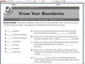 Know your boundaries plate tectonics worksheet for 4th 6th grade know your boundaries plate tectonics worksheet ibookread Read Online