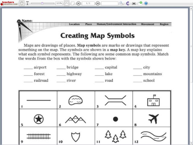 Map Symbols Lesson Plans Worksheets Reviewed By Teachers