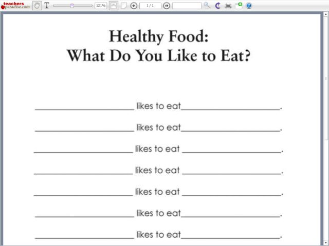 Healthy Food What Do You Like to Eat 2nd 3rd Grade Worksheet – 5th Grade Health Worksheets