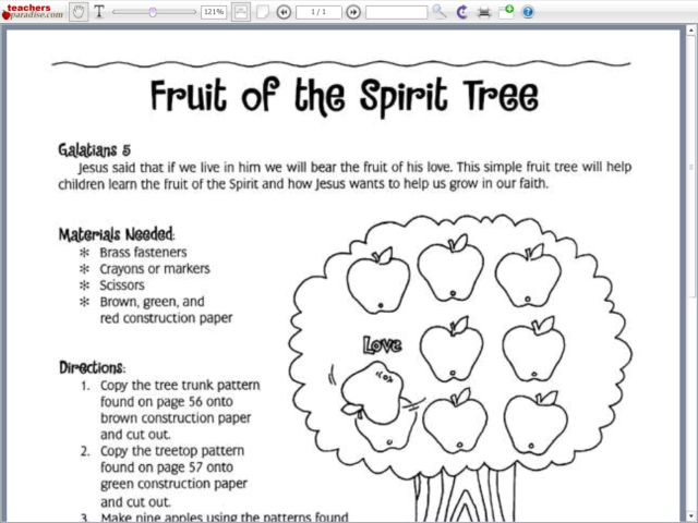 Collection of Fruit Of The Spirit Worksheets - Sharebrowse