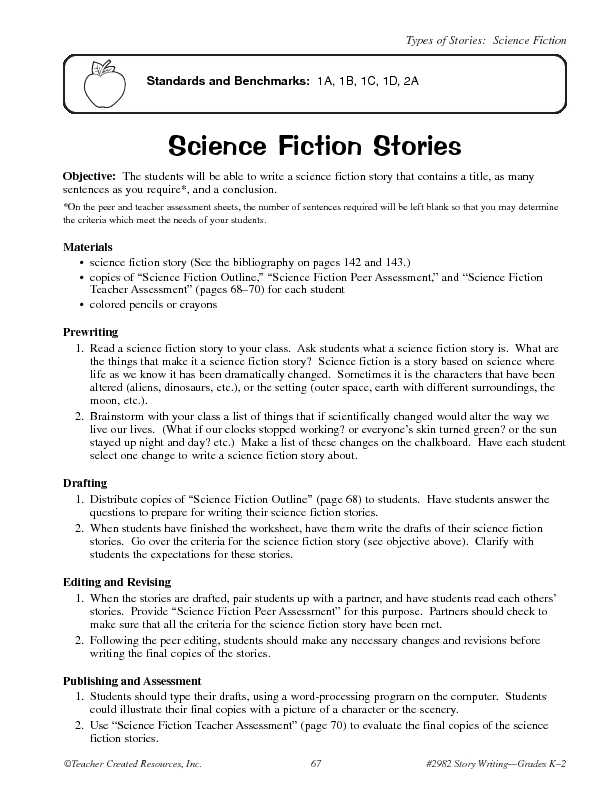 Printable Worksheets fiction writing worksheets : Science Fiction Stories Lesson Plan for 2nd - 3rd Grade | Lesson ...