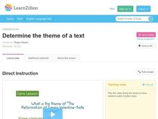 Determine the Theme of a Text Video