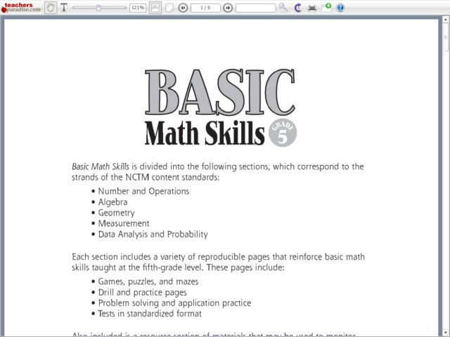 6th Grade Math Skills Review Worksheets Proga Info