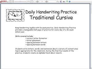 letter formation chart traditional cursive worksheet for. Black Bedroom Furniture Sets. Home Design Ideas