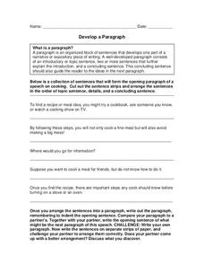 Mixed Up Paragraphs Lesson Plans \u0026 Worksheets Reviewed By Teachers Mixed Up Story Develop A Paragraph Worksheet