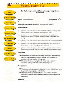 Developing expression and fluency through recognition of punctuation Lesson Plan