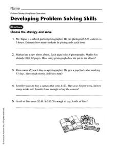 Developing Problem Solving Skills Worksheet