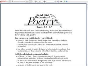"Read and Understand Poetry: ""in daddy's arms"" Worksheet"