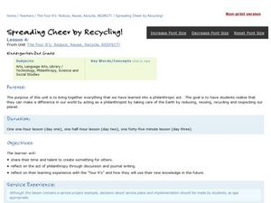 spreading cheer by recycling lesson plan for kindergarten 2nd