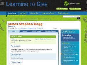 James Stephen Hogg Lesson Plan