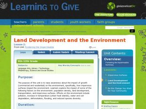 Land Development and the Environment Lesson Plan
