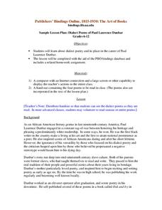 Dialect Poems of Paul Laurence Dunbar Lesson Plan