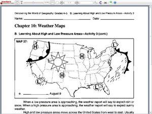 Weather Map Lesson Plans Worksheets Lesson Planet