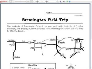 road map farmington field trip worksheet for 3rd 4th grade lesson planet. Black Bedroom Furniture Sets. Home Design Ideas