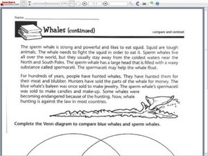 Worksheets Compare And Contrast Worksheets 4th Grade compare and contrast blue sperm whales venn diagram 3rd 4th worksheet