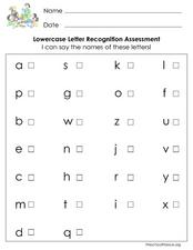 letter recognition assessment for kindergarten lowercase letter recognition assessment lesson plan for 12259