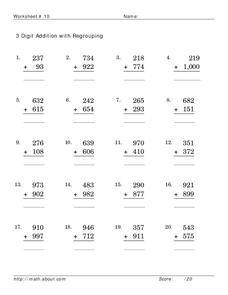 3-Digit Addition With Regrouping Lesson Plan