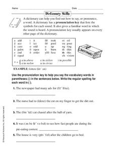 Dictionary Skills Worksheet