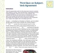 Subject-Verb Agreement Quiz Interactive