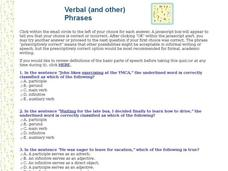 Verbal (and other) Phrases Interactive