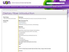 Dietary Fiber Introduction Lesson Plan