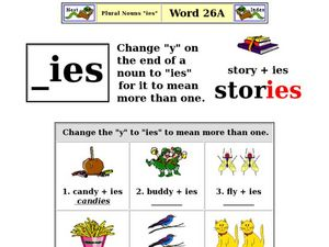 plural noun ies worksheet for 1st 2nd grade lesson planet. Black Bedroom Furniture Sets. Home Design Ideas