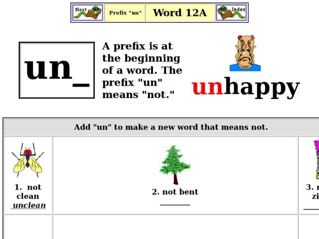Un Words Worksheet : Un prefix worksheet free worksheets library download and