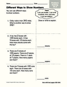 Different Ways to Show Numbers Worksheet
