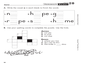 Spelling Connections: Grade 1: Long Vowel O Worksheet
