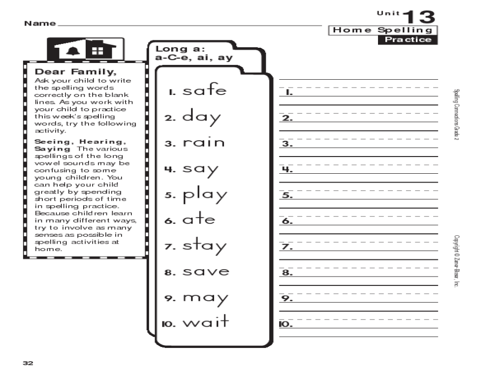 Worksheets Ai Ay Worksheets home spelling practice grade 2 long a c e ai ay 1st 3rd worksheet lesson planet