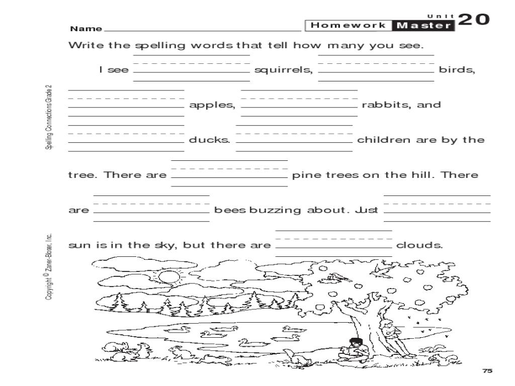 spelling connections grade 2 number words worksheet for 1st 3rd grade lesson planet. Black Bedroom Furniture Sets. Home Design Ideas