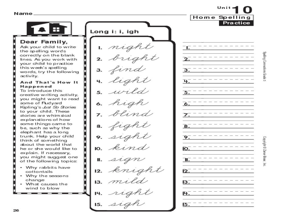 Uncategorized Igh Worksheets spelling long i igh 2nd 3rd grade worksheet lesson planet