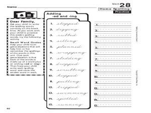 Inflectional Endings Ing Lesson Plans & Worksheets