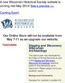Digging and Discovery: Wisconsin Archaeology Lesson Plan