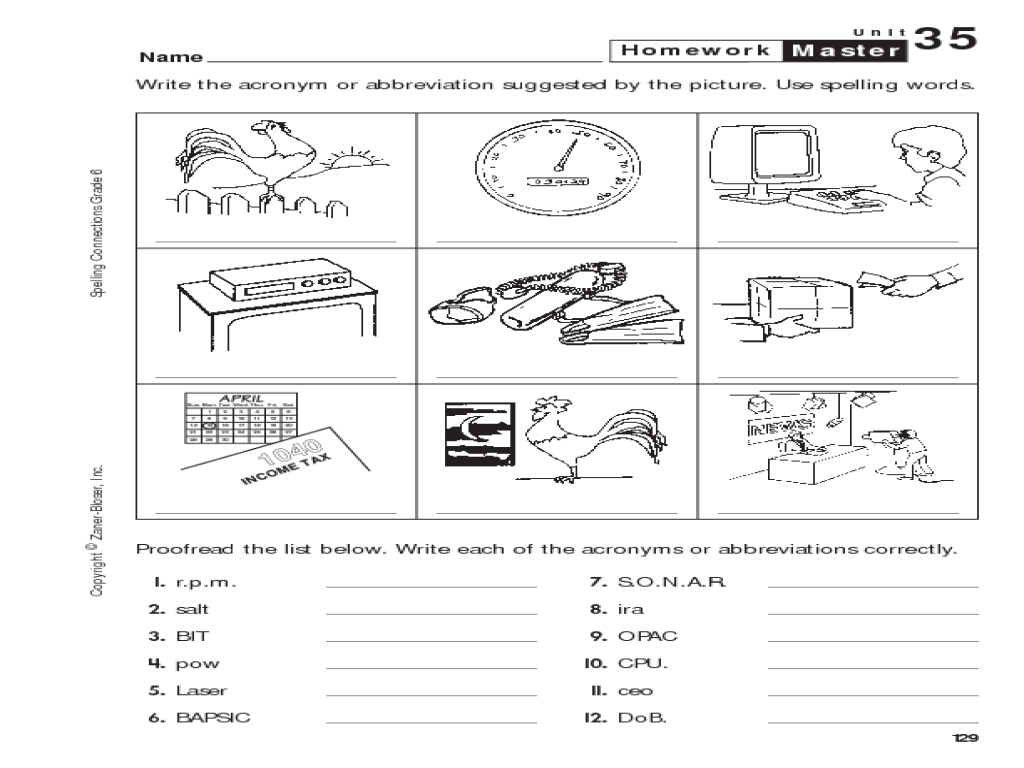 Acronym Lesson Plans Worksheets Reviewed by Teachers – Abbreviations Worksheet