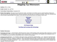 Digging Up Dinosaurs Lesson Plan