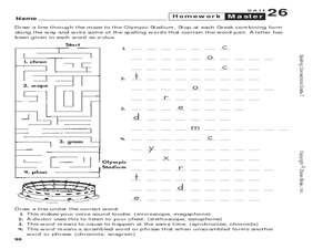 Spelling Maze: Greek Roots 7th - 8th Grade Worksheet | Lesson Planet