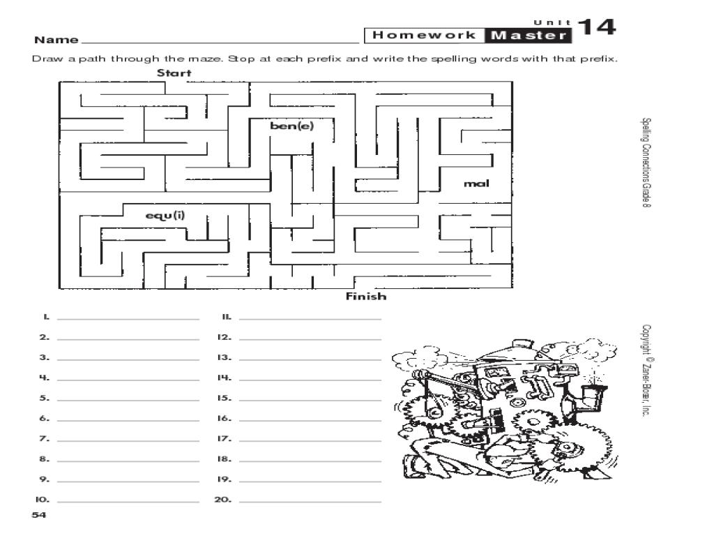 spelling 8 maze worksheet for 2nd 3rd grade lesson planet. Black Bedroom Furniture Sets. Home Design Ideas
