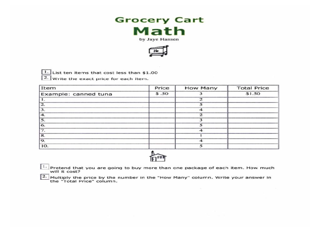 worksheet. Supermarket Math Worksheets. Hate Mysql Worksheet For ...