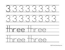 3: Three Worksheet
