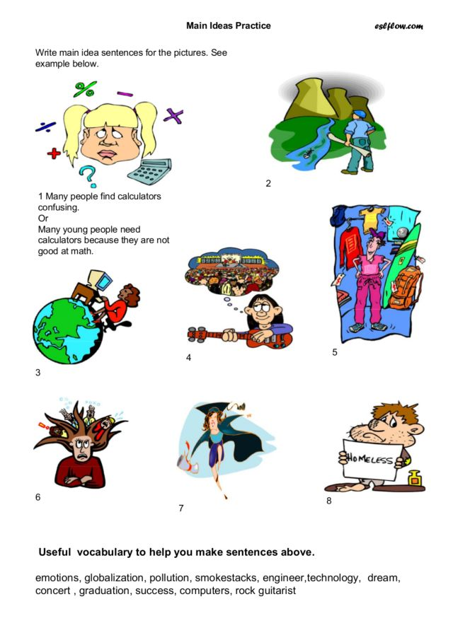 Main Idea Practice Worksheet For 2nd 4th Grade Lesson