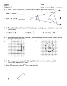 Dilations Worksheet