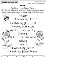 poem initial blends second letter l worksheet for 1st 2nd grade lesson planet. Black Bedroom Furniture Sets. Home Design Ideas