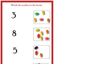 Match the Number to the Beans Worksheet