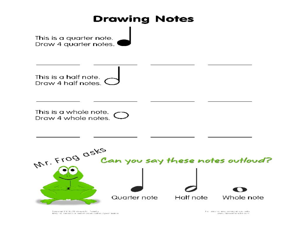 Drawing Notes Worksheet For 1st 3rd Grade Lesson Planet