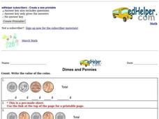 Dimes and Pennies Worksheet