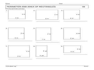 area and perimeter of rectangles worksheet pdf