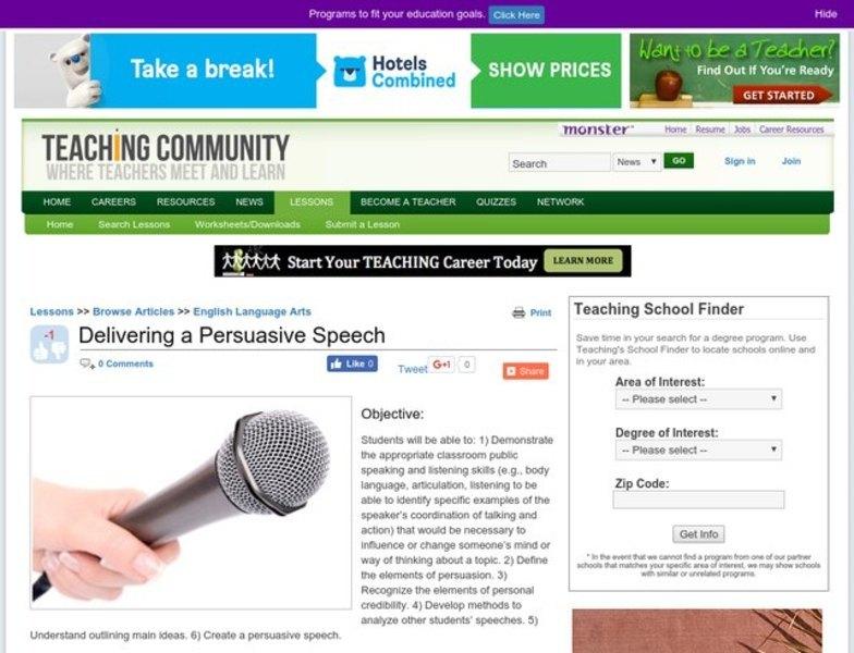 Ready made persuasive speeches
