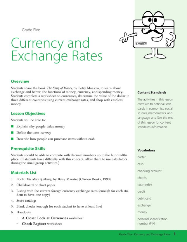 currency and exchange rates lesson plans worksheets lesson planet. Black Bedroom Furniture Sets. Home Design Ideas