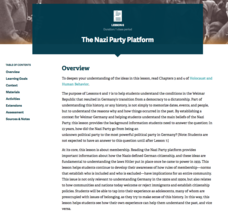 The Nazi Party Platform Lesson Plan
